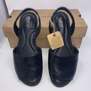 Born Womens Trang Black Slip on Style Sandals 8 M